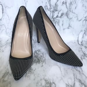 Club Monaco Jamie Studded Suede Pumps